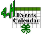4-H event calender image
