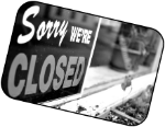 Sorry we are closed logo